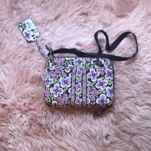 Vera Bradley laptop case with matching luggage tag